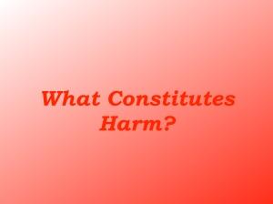 What Constitutes Harm.001