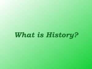 What Is History?.001