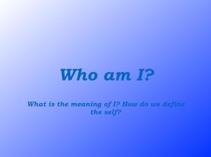 Who am I? .001